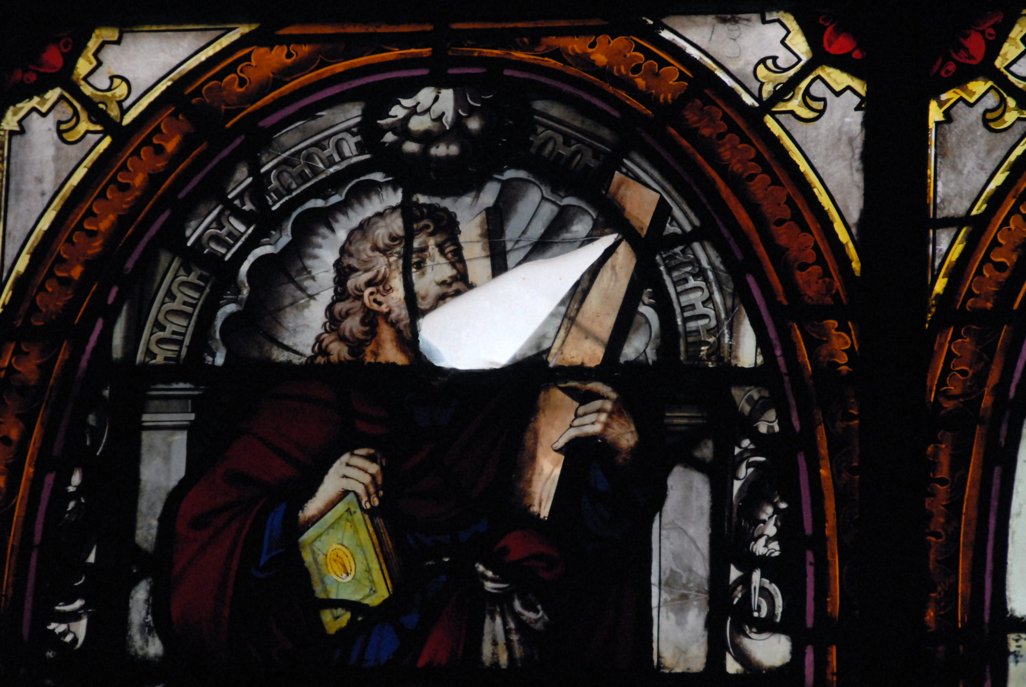 (c) fc Vitrail de la Chapelle de la Vierge