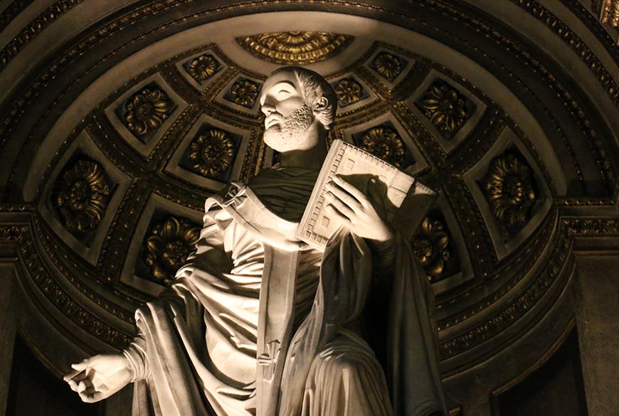 Les statutaires Saint Augustin et Sainte Clotilde restaurées