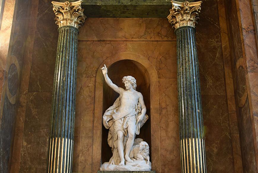 Restauration de la statue de Saint Jean-Baptiste à Saint-Sulpice