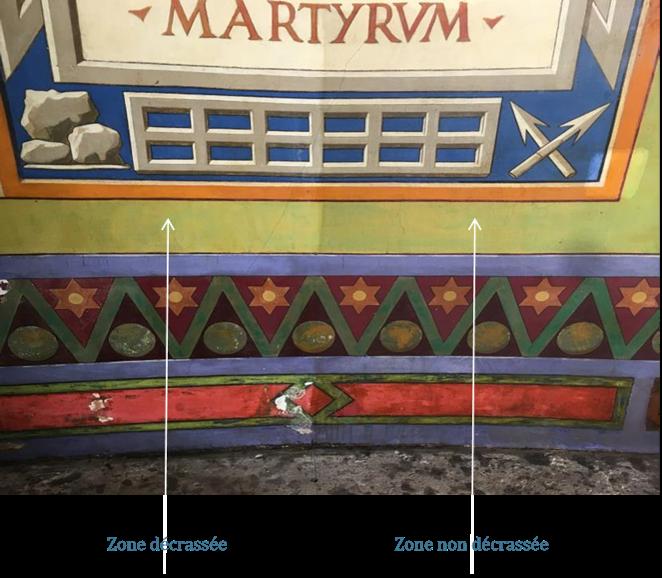 Décrassage des peintures murales
