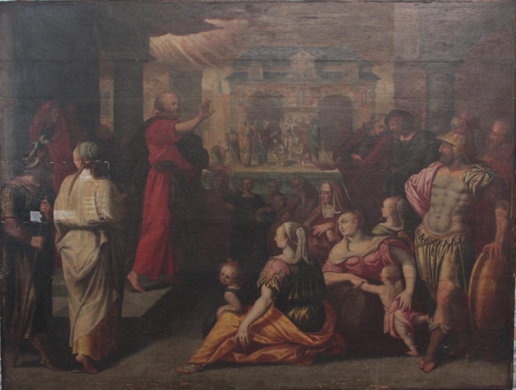 La Prédication de Saint Pierre avant restauration