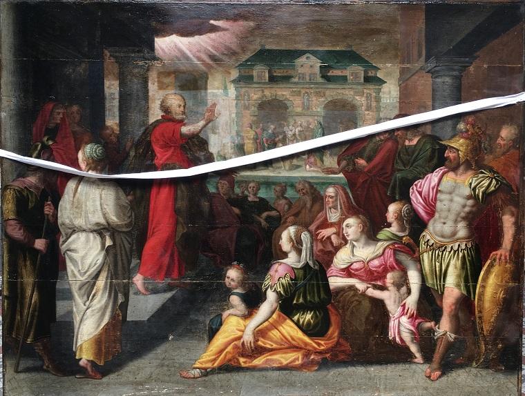 La Prédication de Saint Pierre en cours de restauration