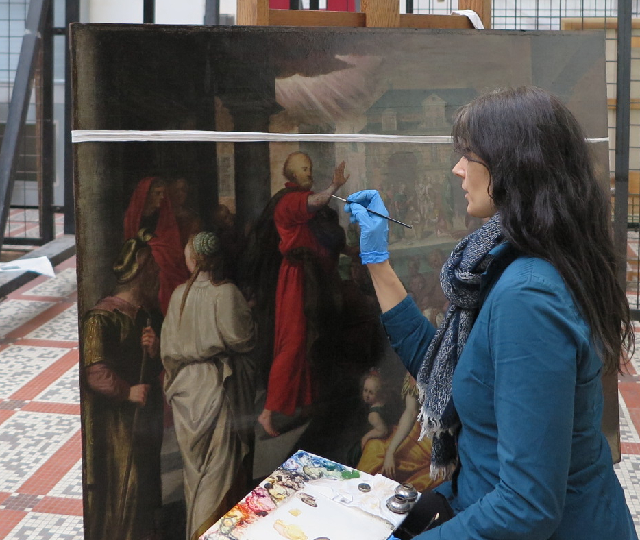 Mélanie Curdy Restauratrice de peintures