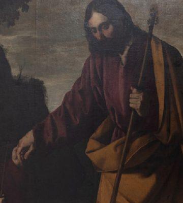 Grâce au don d'un mécène, le tableau de Zurbaran a été déposé pour restauration