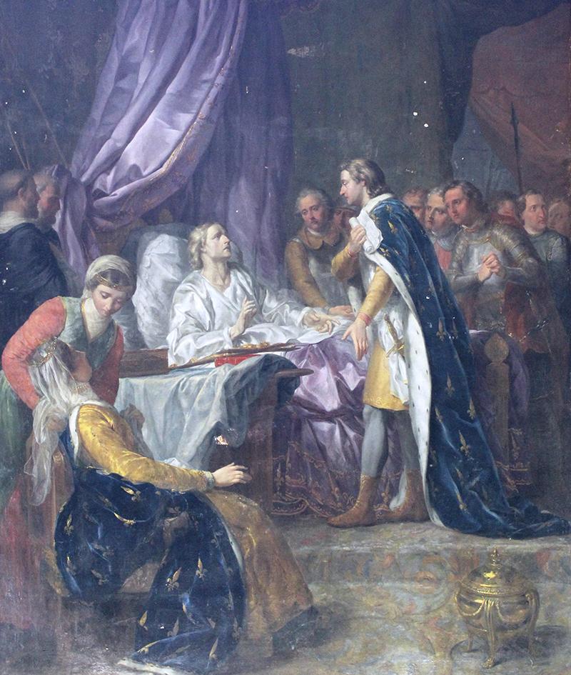 Le roi malade donne des instructions à son fils Philippe - de Jacques-Antoine Beaufort