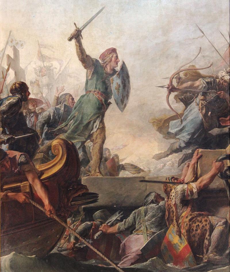 Descente du roi à Tunis - de Jean-Bernard Restout fils
