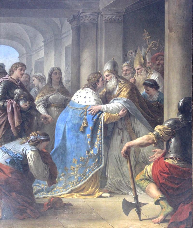 Entrevue du roi et du pape Innocent III dans la ville de Lyon - de Jean-François Lagrénée