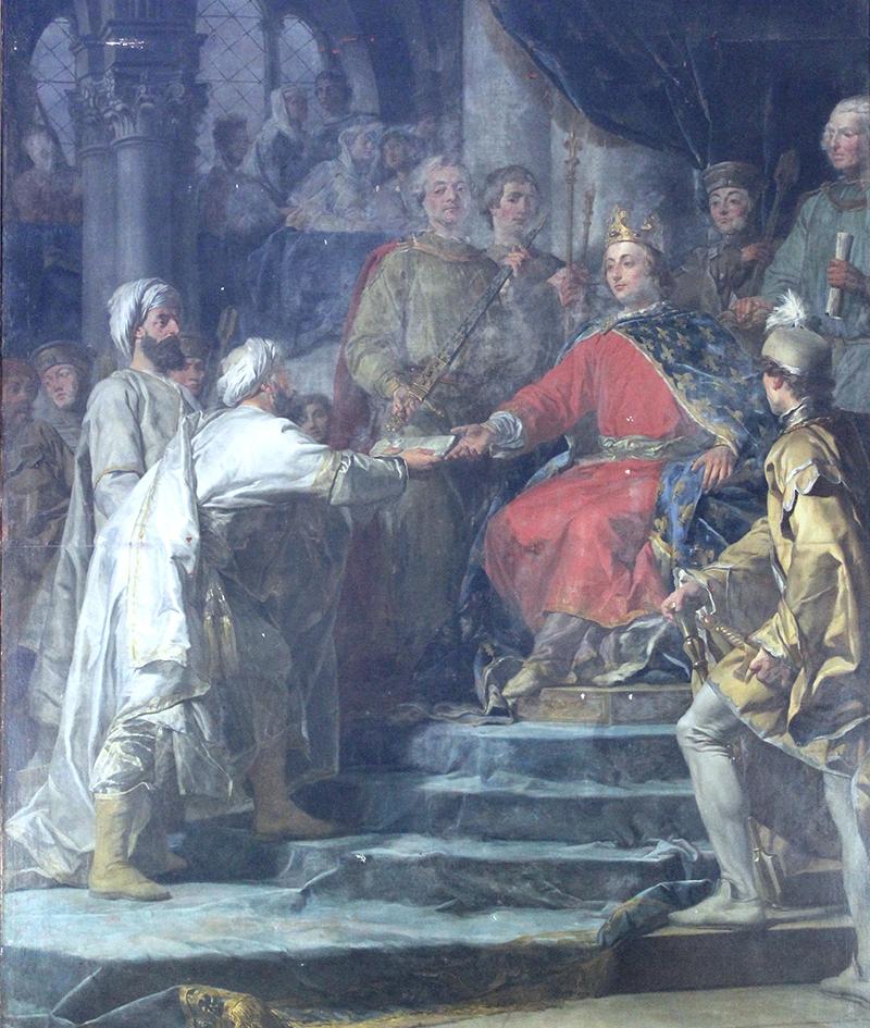 Réception de l'ambassadeur du prince des Assassins - de Nicolas-Guy Brenet