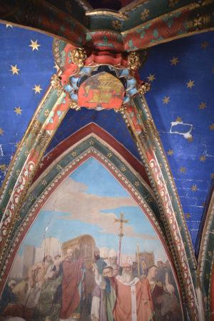 Chapelle Sainte-Geneviève, voûte restaurée